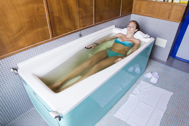 Bagno termale alle Terme di Tabiano