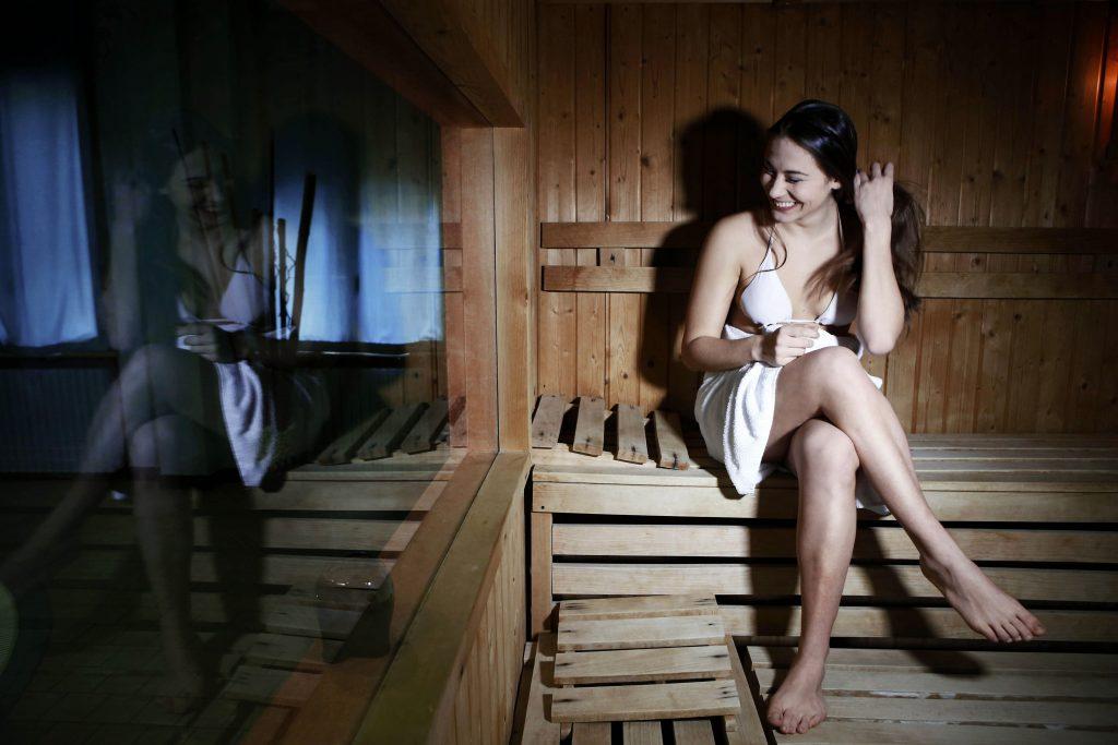 Sauna al centro benessere di Tabiano