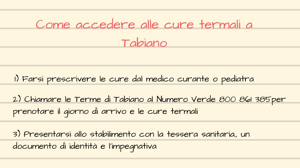 Come accedere alle cure termali a Tabiano