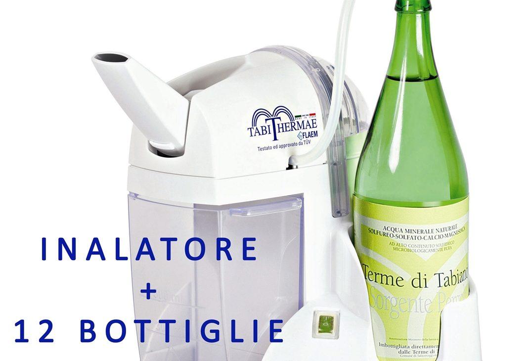 Cure termali a casa con inalatore e acqua di Tabiano in bottiglia